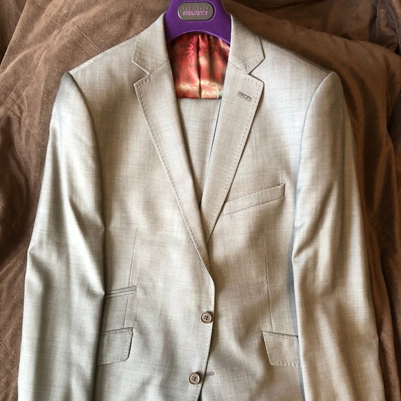 Ted Baker London Other - Ted Baker Virgin Wool Gray Suit 42R & 36R SlimFit